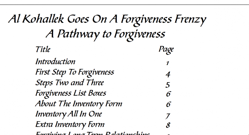 Forgiveness Workbook