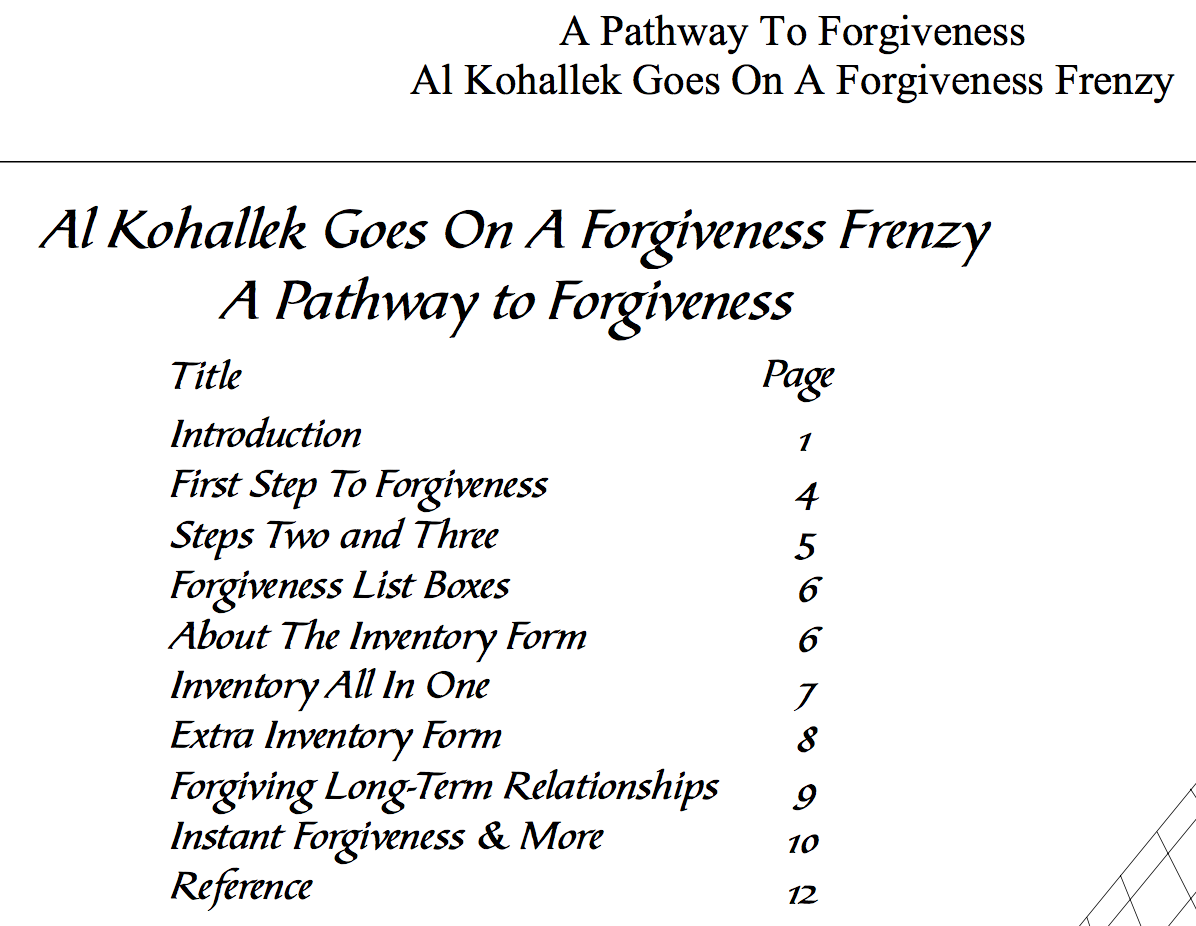 Workbooks spiritual gifts workbook : Forgiveness | 12 Step Workbook